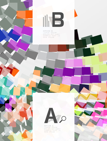 Geometrical vector abstract background with infographics Illustration