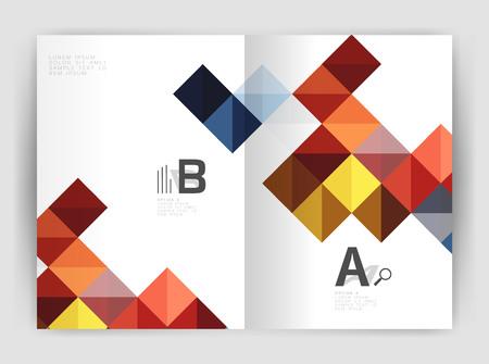 Vector opuscolo quadrato, modello di stampa business a4. Vector modello di sfondo per il layout del flusso di lavoro di stampa, diagramma, opzioni di numero o banner web design
