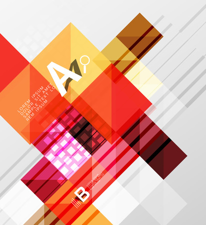 Minimalistic square shapes abstract background