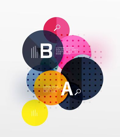 ellipse: Vector circle bubbles modern geometric background