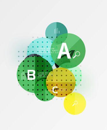 Vector circle bubbles modern geometric background