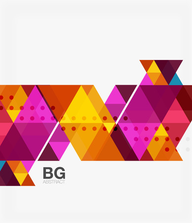 Vector abstract colorful triangle repetition