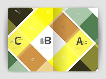 Business a4 business brochure geometrical template