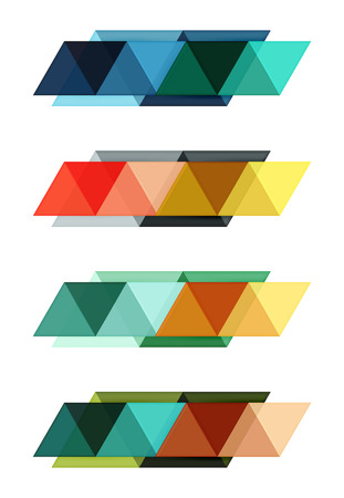 Vector set of blank geometric infographic web boxes Illustration