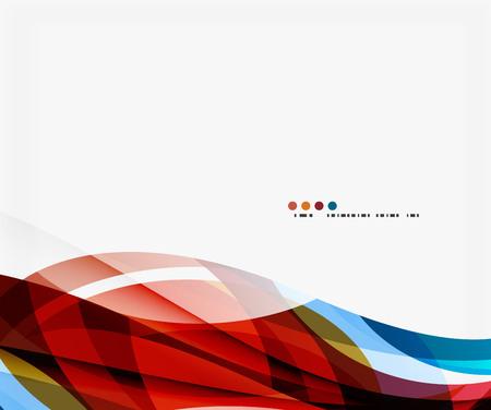 billowy: Modern geometric wavy shapes on light