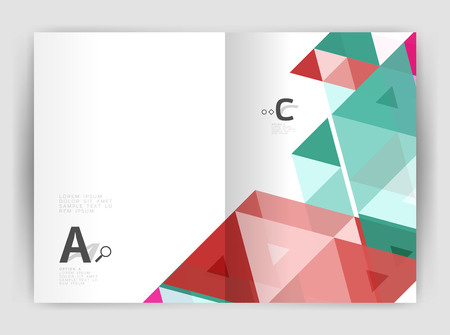 Mosaic triangle annual report template Illustration