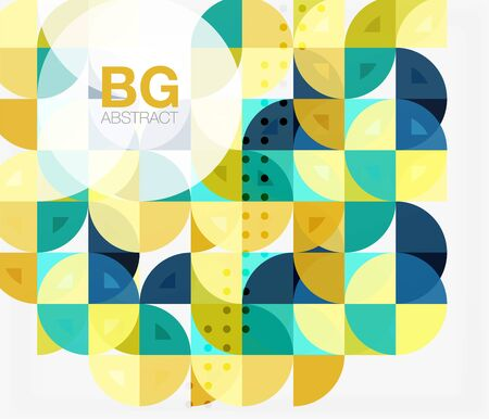 Vector geometric circle abstract background. Vector template background for workflow layout, diagram, number options or web design