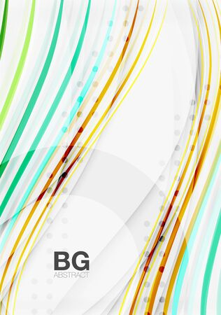 Thin lines wave abstract background. Vector template background for workflow layout, diagram, number options or web design Illustration