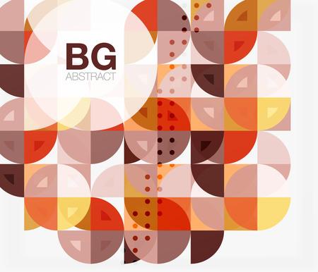 Minimalistic circle composition background Illustration