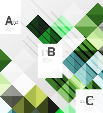 Vector square elements on gray abstract background with infographics. Vector template background for print workflow layout, diagram, number options or web design banner
