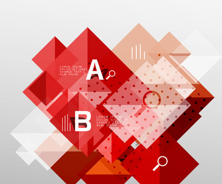 futurist: Modern square composition, abstract banner Illustration