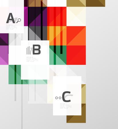 Modern square abstract background Ilustração