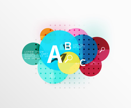 Circle modern geometry infographic background. Vector template background for workflow layout, diagram, number options or web design Illustration