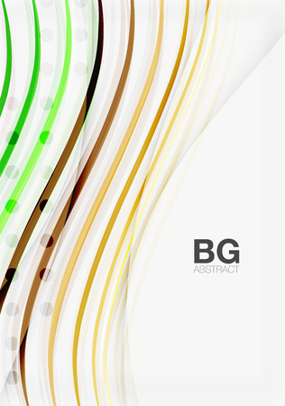 Wave lines abstract background Illustration