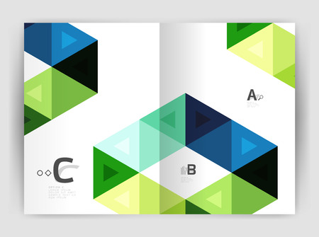 Modern business brochure or leaflet A4 cover template Illustration