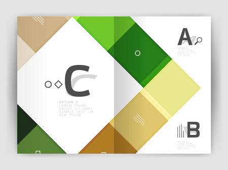 squares and rectangles a4 brochure template royalty free cliparts