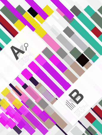 Colorful lines, rectangles and stripes with option infographics