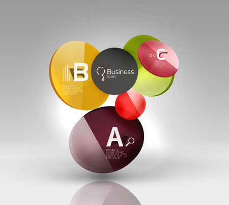 Circle modern business infographics design template. Vector template background for print workflow layout, diagram, number options or web design banner