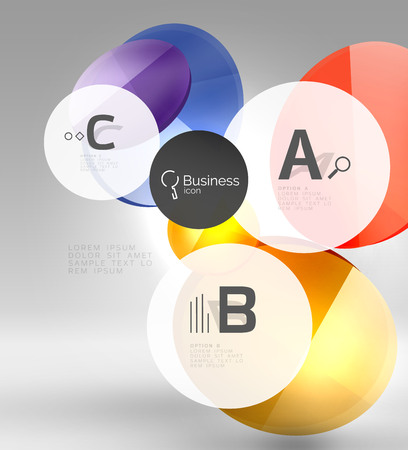 Vector circle infographics. Vector template background for print workflow layout, diagram, number options or web design banner Illustration