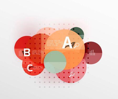 Vector circle banner Illustration