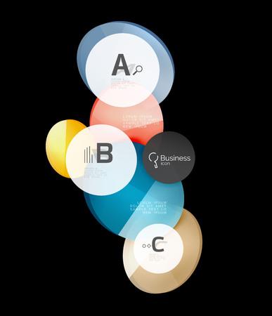 colourful lightings: Glass circles on black