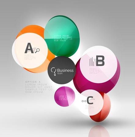 Vector circle infographics Illustration