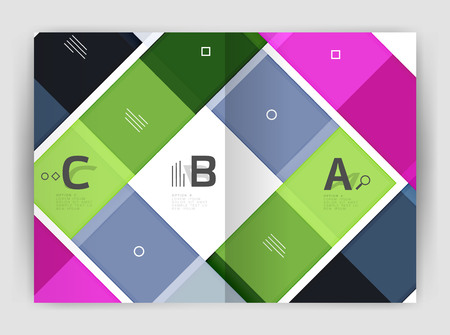 Colorful modern stripes business flyer