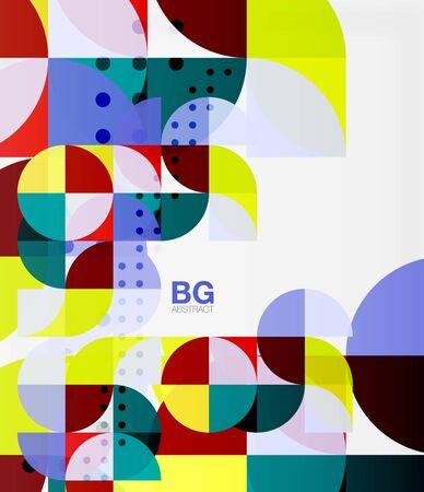 Modern geometric circle abstract background Illustration