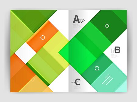 advertizing: Business a4 business brochure geometrical template