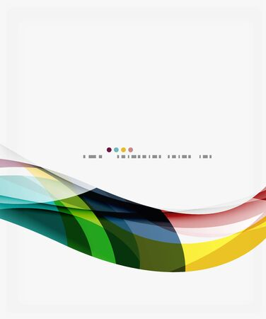 Colorful geometric wave abstract background. Vector template background for workflow layout, diagram, number options or web design