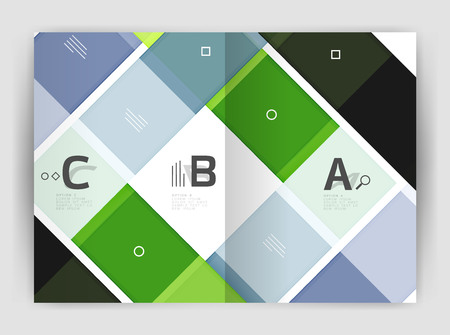 Squares and rectangles a4 brochure template