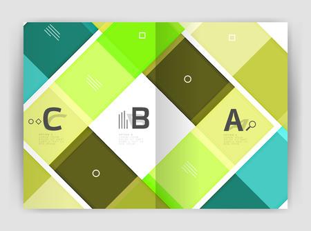 Business a4 business brochure geometrical template