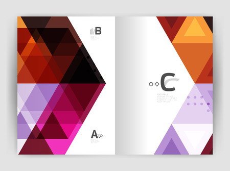 Modern triangle print template Illustration