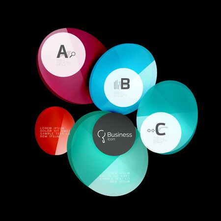 Glass circle abstract background Illustration