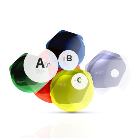 amber: Glass modern geometrical hexagon abstract background Illustration
