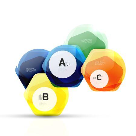 gray gradient reflection: Geometrical hexagon aqua elements