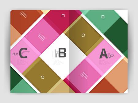 Vector modern geometrical a4 flyer brochure template Illustration