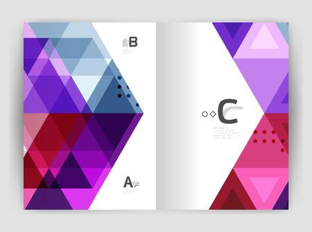 Modern triangle print template Illustration