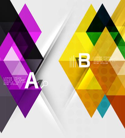 Transparent triangle tiles banner Illustration