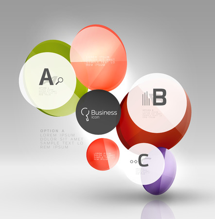 Vector circle infographics Illustration