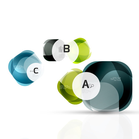 Vector abstract gem stones