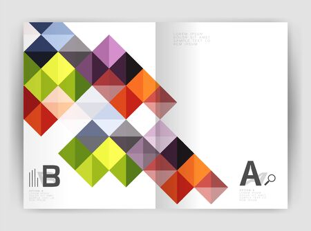 Vector square leaflet, business a4 print template