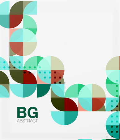 Vector modern elegant circle banner. Vector template background for workflow layout, diagram, number options or web design