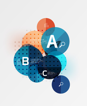 human icons: Circle modern geometry infographic background