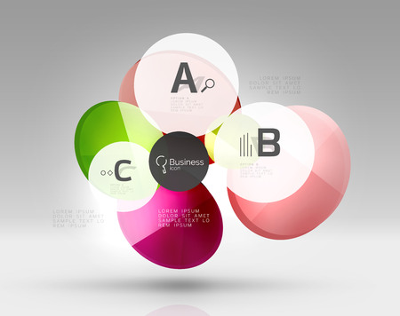 Circle abstract background. Vector template background for print workflow layout, diagram, number options or web design banner
