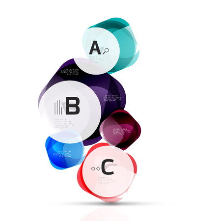 Vector abstract gem stones with infographics options