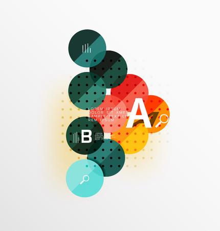 Circle geometric abstract background. Vector template background for workflow layout, diagram, number options or web design