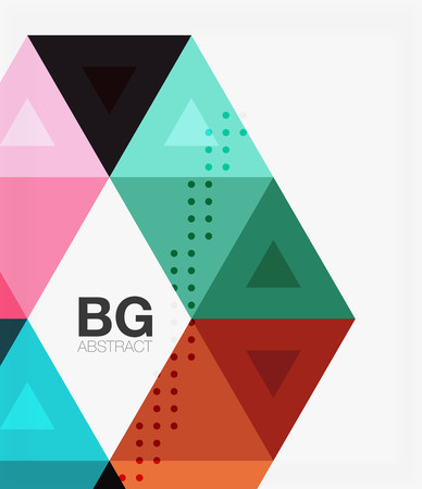 Vector abstract colorful triangle repetition. Vector template background for workflow layout, diagram, number options or web design