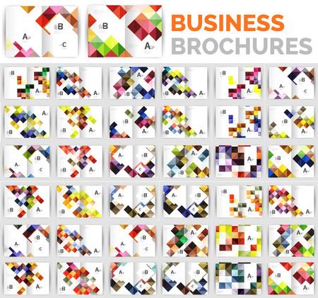 Mega set of business brochure design templates