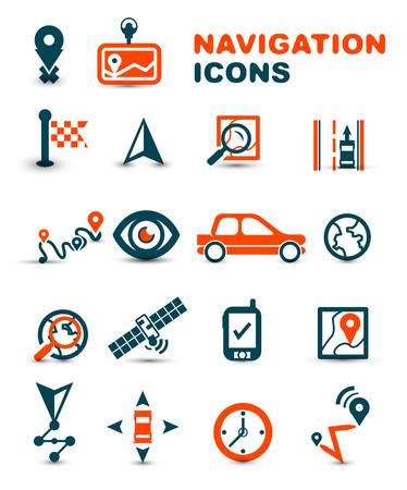 Navigation premium icon set Illustration